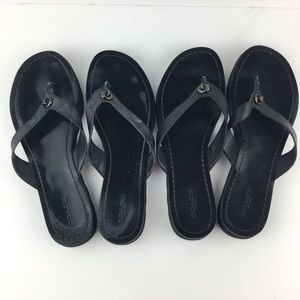 """Two Pairs of """"Shelly"""" Coach Black Sandals"""